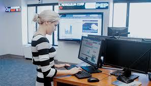 Woman using technology