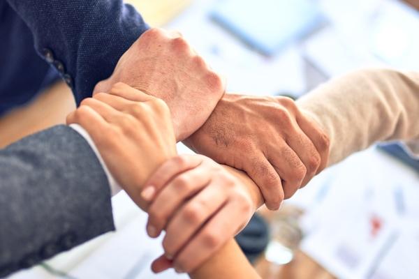 Teamwork handshakes